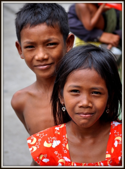 Two Young Beggars: Wat Toul Tompong, Phnom Penh