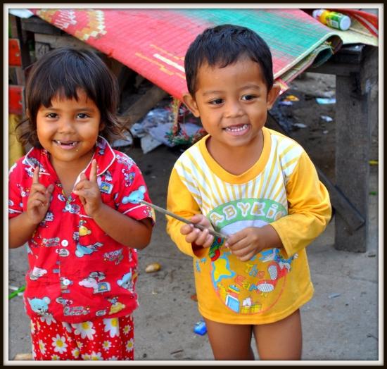 Having fun down a Phnom Penh Alley