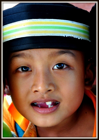 Cham Muslim boy at school, National Road 5, about 28 kilometres from Phnom Penh