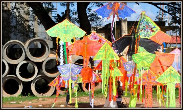 Roadside Kites, National road 5, about 15 kilometres from Phnom Penh