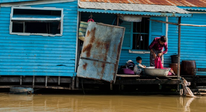 Phoum Kandal Floating village, Kampong Chnnang, Cambodia