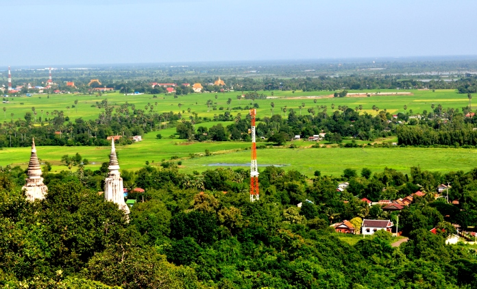 From Oudong Mountain, Kandal Province, Cambodia