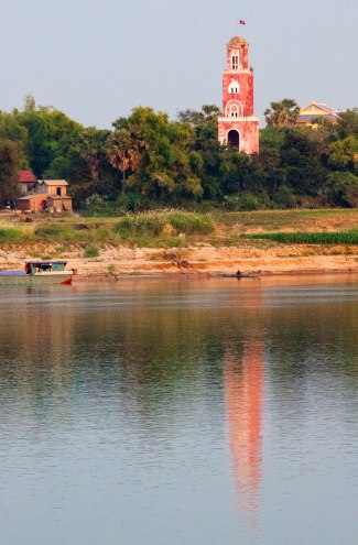 French Watchtower, on the banks of the Mekong