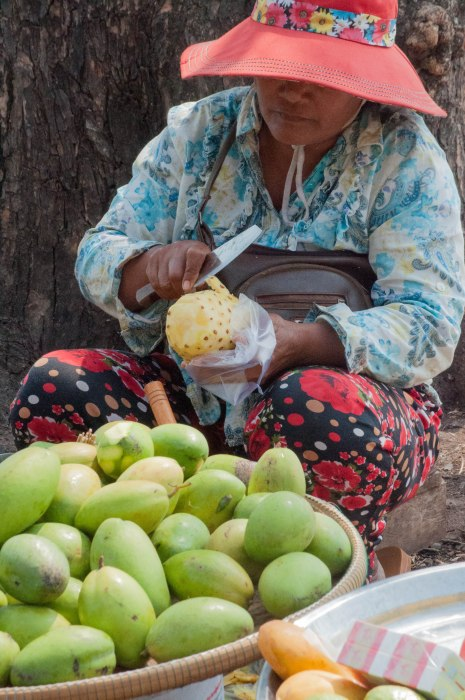 Fruit Seller, Kep Beach, Kep, Cambodia