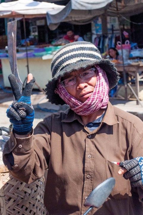 Knife Sharpener, Kampong Cham town, Cambodia