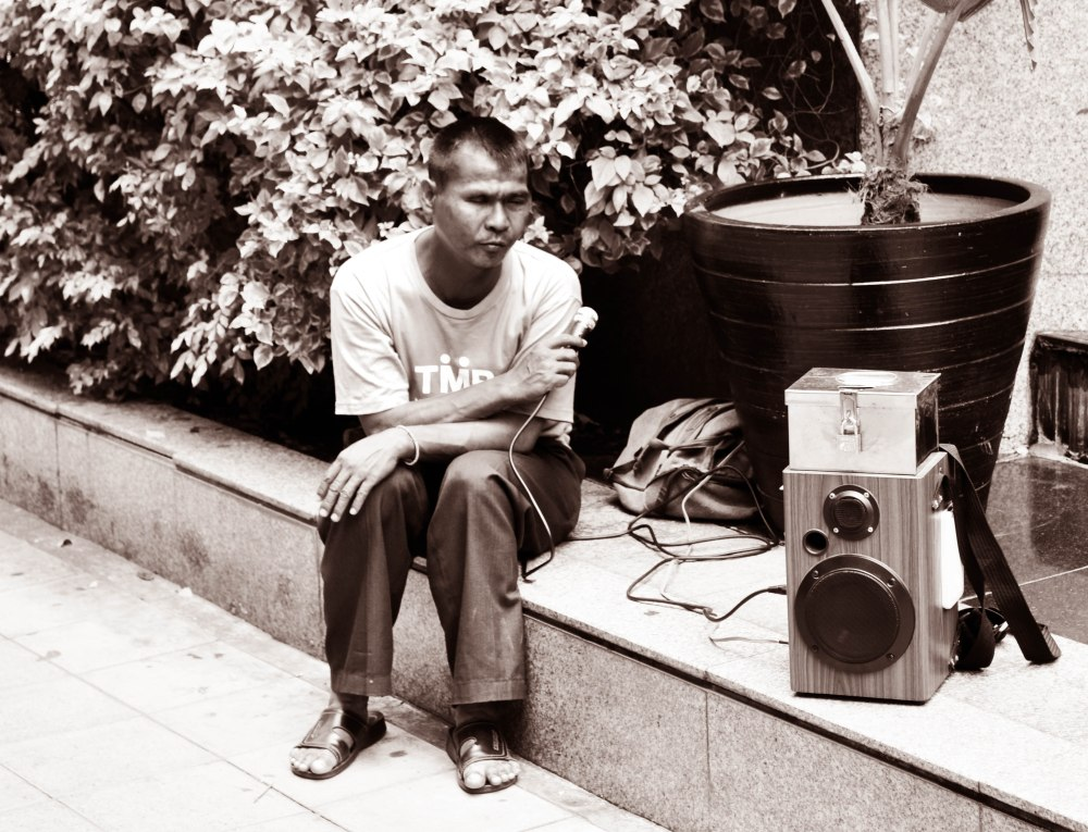 Blind Singer, Wireless Road, Bangkok