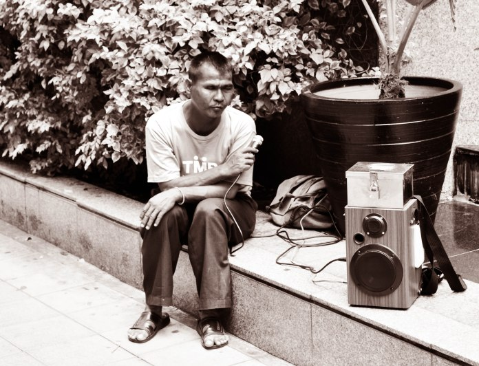 Blind Singer, Wireless Road, Bangkok