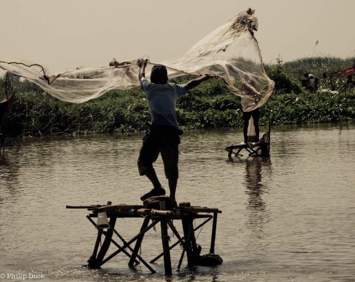 Near Phoum Kandal Floating village, Kampong Chhnang, Cambodia