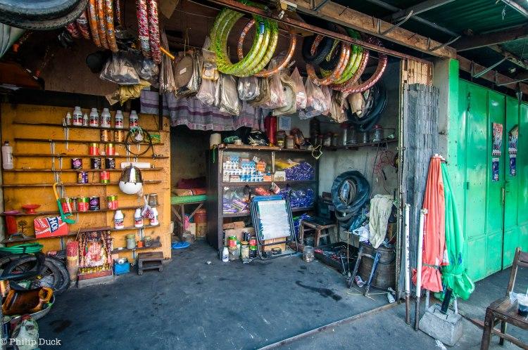 Bicycle Repais Shop, Sansam Kosal Market, Phnom Penh