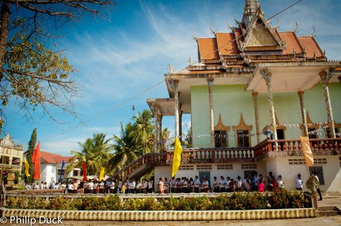 Kampong Luong Pagoda, Angkor Borei, Takeo, Cambodia