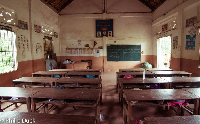Primary school, Koh Dach, Cambodia